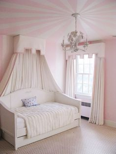 circus striped ceiling design-- cute for the playroom Bedroom Design, Girls Bedroom, Master Bedrooms Decor, Little Girl Rooms, Bedroom Decor, Girl Room, Room, Striped Ceiling, Room Decor