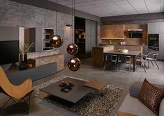 KH Küche: XTreme Metallschwarz, Keramik Rostbraun / KH kitchen: XTreme Metal black, Ceramic rust brown Conference Room, Furniture, Home Decor, Countertop, Metal, Living Room, Knowledge, Decoration Home, Room Decor