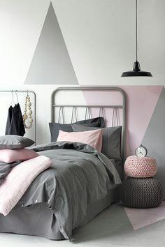 Grigio e rosa per una cameretta é sempre una scelta vincente! #grigio #rosa