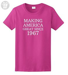 Making America Great Again 50th Birthday Gifts For All Making America Great Since 1967 Ladies T-Shirt Medium Hlcna - Birthday shirts (*Amazon Partner-Link)