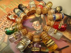 Harry Potter Inspired - Potion Bottle Necklace - One Bottle Of Your Choice Harry Potter Potions, Harry Potter Pin, Bottle Charms, Bottle Necklace, Glass Bottle, Miniature Bottles, Potion Bottle, Mischief Managed, Hogwarts