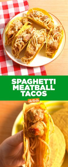 Spaghetti & Meatball Tacos Are The Most Excited Your Kids Have Ever Been For Dinner