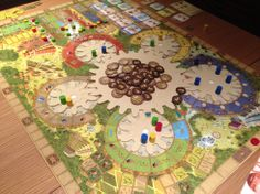Tzolk'in, Board game of the Mayan calendar. http://blog.metagames.co.uk/wp-content/uploads/Tzolkin-game.jpg