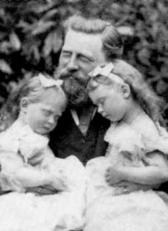 Emperor Friedrich III of Germany with Princess Margarete and Princess Sophie of Prussia