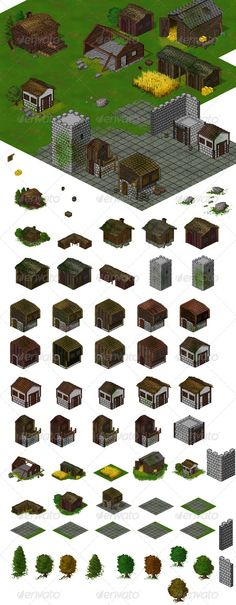 RPG Buildings Set #graphicriver
