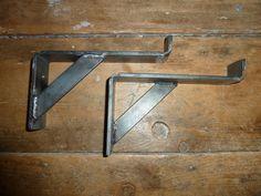 Handmade Mild Steel / Wrought Iron garage storage ladder hooks, Shelf Brackets