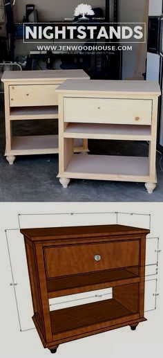 How to build a DIY nightstand - doesn\u0027t look too hard to build! Free