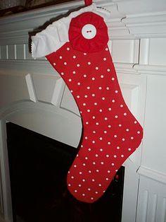DIY Ruffle Stocking
