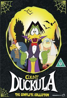 Count Duckula Cufflinks Mens Wedding Retro Funky Kids Vampire Dracula Gift