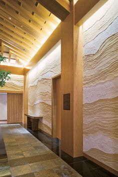 Photos of Satori Contemporary Interior Wall Finishes Rammed Earth Homes, Rammed Earth Wall, Japanese Wall, Japanese House, Spa Interior, Interior Walls, Floor Design, House Design, Wattle And Daub