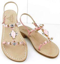 Capri sandals #sandaligioiello Dea Sandals Capri Style #caprifashion #jewelsandals shop at deasandals.com