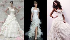 wedding gown ruffles