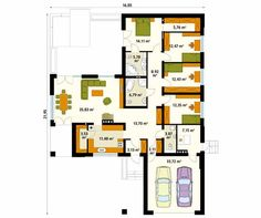 Projekt domu Ambrozja 9 - rzut parteru