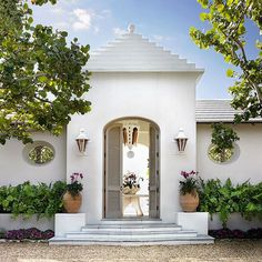 This sun-drenched South Florida home does island style just right.  Architecture by D. Stanley Dixon. Photo by Emily Followill