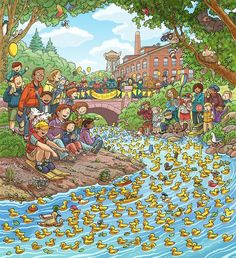 Highlights What's Wrong? April, Wimmelbild Created for Highlights Magazine Copyright © Highlights Press Communication Orale, Colegio Ideas, Hidden Picture Puzzles, Highlights Magazine, Sequencing Pictures, Number Talks, Writing Pictures, Math Talk, Picture Composition