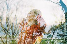Lomography Multiexpo, multi exposition  Film camera portrait - canon 300v Kodak color+