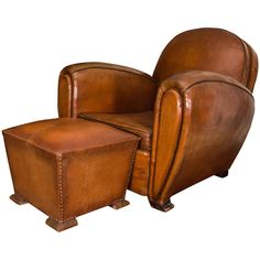 art deco leather club chair | man cave | pinterest | leather club