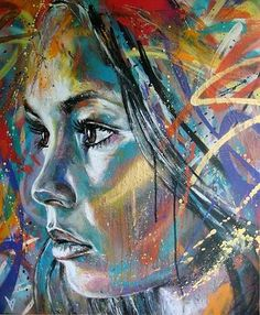 David Walker #Art #Painting #Woman #Face