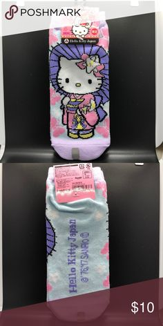 d3776ed96 Hello Kitty socks Hello Kitty socks from Japan featuring Hello Kitty in a  kimono, super