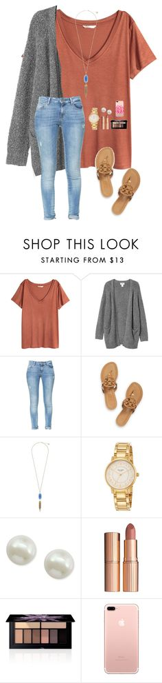 """Idk about this"" by a-devo ❤ liked on Polyvore featuring H&M, Monki, Zara, Tory Burch, Kendra Scott, Kate Spade, Majorica, Charlotte Tilbury and Smashbox"
