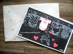 Baby Card for her with Baby Tees & Kleine ganz groß