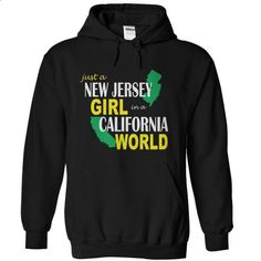 New Jersey Girl in California - #tee trinken #cool hoodie. I WANT THIS => https://www.sunfrog.com/States/New-Jersey-Girl-in-California-Black-Hoodie.html?68278