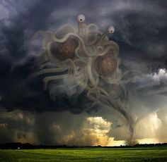 The Flying Spaghetti Monster! All hail his noodly appendages.