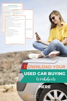 Get your FREE Used Car Buying checklist here so you know exactly what to do before you start looking for a vehicle, during the buying process, and when you're ready to hand over the cash for the keys. Student Jobs, Paying Off Student Loans, Ways To Save Money, Money Saving Tips, Vacation Savings, Paying Off Credit Cards, Budget Planer, Budgeting Worksheets, Family Budget