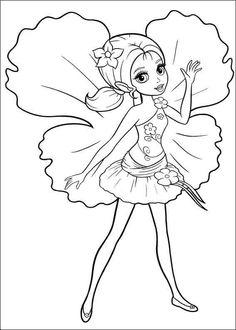 Barbie Tommelise Tegninger til Farvelægning 6