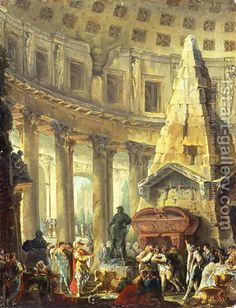 Alexander the Great visiting the Tomb of Achilles, 1755-60 by Hubert Robert