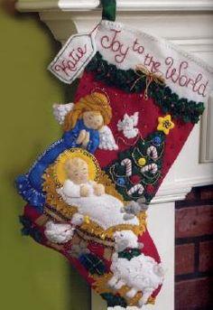 Baby Jesus Felt Stocking