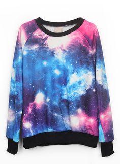 Sudadera galaxias-azul&rosa EUR€20.28
