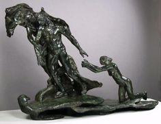 Camille Claudel - L'Âge mûr, c. 1893-1899. Bronze, 114 x 163 x 72 cm. Musée Rodin, Paris, France