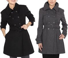 BESTSELLER! Alpine Swiss Women's Wool Trench Coat... $49.99