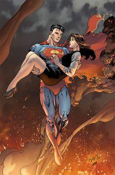 My first test for DC ©DC Comics First Test - Superman Superman And Lois Lane, Superman Family, Superman Man Of Steel, Superman Wonder Woman, Mundo Superman, Comic Superman, Catwoman Comic, Superman Artwork, Superman Stuff