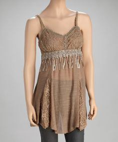 Take a look at this Brown Silk-Blend Tunic on zulily today!