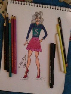 #Croqui #Moda #De+ #look #Lookfeminino #Modafeminina #Desenhos #Pinterest
