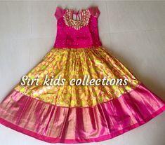 Baby Frocks Designs, Kids Frocks Design, Dresses Kids Girl, Kids Outfits, Baby Dresses, Kids Blouse Designs, Bridal Silk Saree, Frock Design, Kids Wear