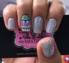 Mándala trival Cute Nail Art, Cute Nails, Pretty Nails, Wonder Nails, Gel Nails, Manicure, Nail Arts, Nail Designs, Art Nails