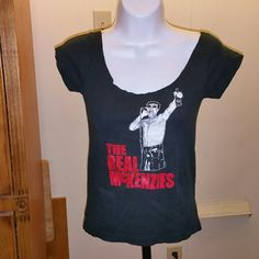 The Real McKenzies fitted top Wide neck, almost off the shoulder punk rock shirt top. Tops