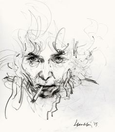 Maggi Hambling, 'Self-portrait working' Graphite x cm Rolf Armstrong, Graphite Drawings, Art Drawings, Drawing Portraits, Drawing Faces, Lucian Freud, Expressionist Portraits, Maggi Hambling, Van Gogh