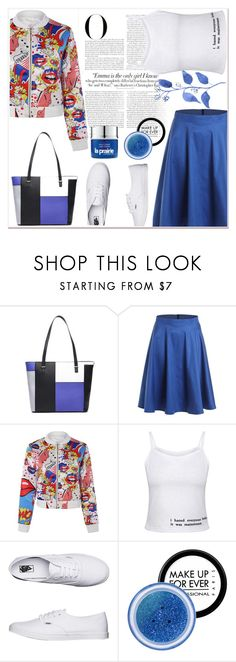 """Cartoon"" by nerma10 ❤ liked on Polyvore featuring Vanity Fair, Vans, MAKE UP FOR EVER and vintage"