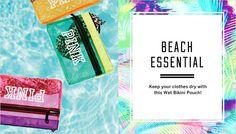 The all-new beach essential - a wet bikini pouch