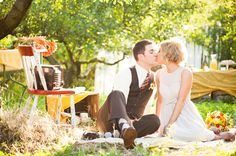 Backyard picnic shoot - meant to be a pre-wedding (morning) bride & groom only brunch, I'd love to do this, but our wedding is early afternoon.