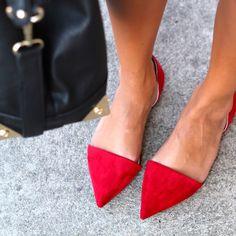 Red Zara flats FTW