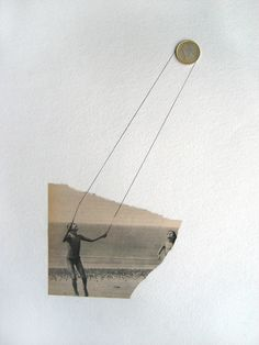 """Jorge Chamorro; Paper, Assemblage / Collage """"NO TITLE 3"""""""