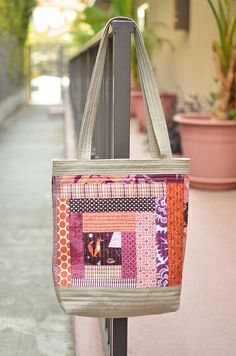 purple quilted tote side b by ericajackman, via Flickr
