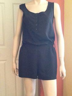884140a0b5b4 Forever 21 Black Short Romper Sz M  fashion  clothing  shoes  accessories