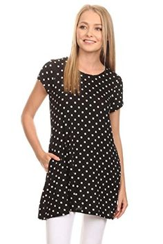 ad7f08268e799f Women s Cute Dot Short Sleeve Tunic Top MADE IN USA. Pockets! Lauren Laws ·  Tops for Leggings