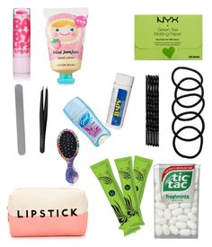"""Girls emergency kit for school"" by sassygirlyme on Polyvore featuring beauty, Forever 21, Maybelline, NYX, Wet Seal, Conair, Etude House, Diamancel, MAC Cosmetics and The Wet Brush"